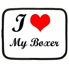 I Love My Beagle Netbook Case (large) by premium