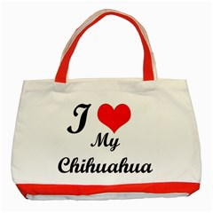 I Love My Beagle Classic Tote Bag (red) by premium