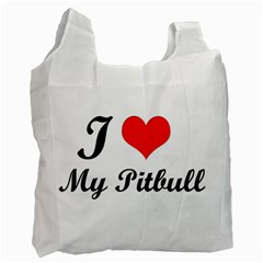 I Love My Beagle Recycle Bag (One Side)