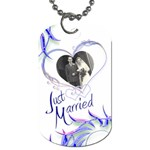 Just Married Double Sided Dog Tag - Dog Tag (Two Sides)