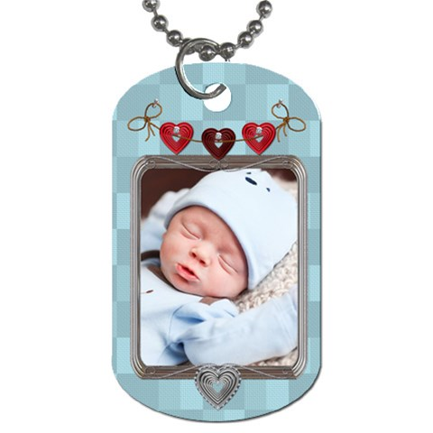 Baby Love 1 Sided Dog Tag By Lil    Dog Tag (one Side)   Tmqnvcb6g1jb   Www Artscow Com Front