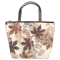 Leaves Brown Bucket Bag By Bags n Brellas   Bucket Bag   3aitu6loglly   Www Artscow Com Front