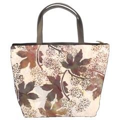 Leaves Brown Bucket Bag By Bags n Brellas   Bucket Bag   3aitu6loglly   Www Artscow Com Back