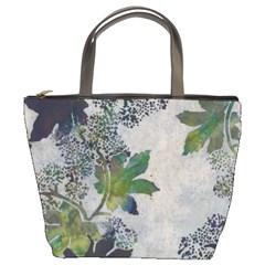 Leaves Green Bucket Bag By Bags n Brellas   Bucket Bag   Mnoo094shsmp   Www Artscow Com Front