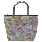batik leaves bucket bag