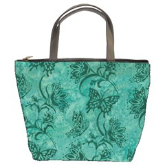 Butterflies Teal, Bucket Bag By Bags n Brellas   Bucket Bag   Ehxn4xvoq1ro   Www Artscow Com Front