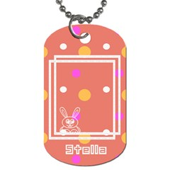 Hunny Bunny Dog Tag 2s By Daniela   Dog Tag (two Sides)   V1x908rto7t1   Www Artscow Com Front