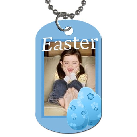 Easter By Wood Johnson   Dog Tag (one Side)   Mqgtrevsbfid   Www Artscow Com Front