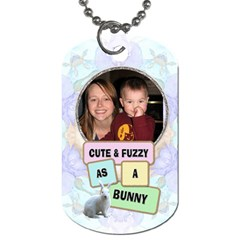 Chocolate Bunnies Easter 2 Sided Dog Tag By Lil    Dog Tag (two Sides)   Tuwvanb2mro8   Www Artscow Com Back