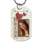 Bride/Groom 2-Sided Dog Tag - Dog Tag (Two Sides)