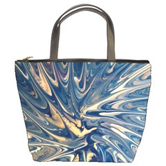 Blue Burst Bucket Bag By Bags n Brellas   Bucket Bag   2aiuuubwqso6   Www Artscow Com Front