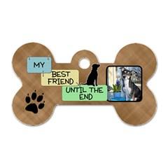 My Best Friend 2 Sided Dog Bone Tag By Lil    Dog Tag Bone (two Sides)   C6pi4otd3zym   Www Artscow Com Front