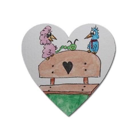 Love 1 By Trine   Magnet (heart)   N62qjwulf9nz   Www Artscow Com Front
