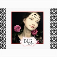 Big Day By Joely   5  X 7  Photo Cards   Rqss5u658snx   Www Artscow Com 7 x5 Photo Card - 7
