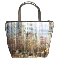 Weathered Cityscape Bucket Bag By Bags n Brellas   Bucket Bag   7fbt4ggks3nz   Www Artscow Com Back