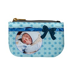 Baby Blue Mini Coin Purse By Lil    Mini Coin Purse   Rj0v5w4bdg9v   Www Artscow Com Front