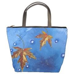 Golden Leaves Bucket Bag By Bags n Brellas   Bucket Bag   W203izlnqp2u   Www Artscow Com Front
