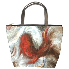 Koi Abstract2 Bucket Bag By Bags n Brellas   Bucket Bag   V5j93wnojhci   Www Artscow Com Front