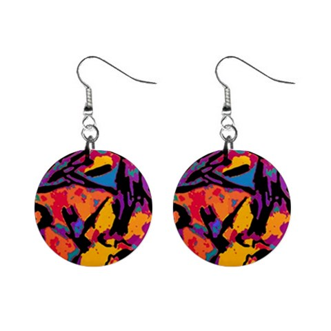 Carnival Earring By Picassieo By Beth   1  Button Earrings   C3mfkr4zdyrd   Www Artscow Com Front
