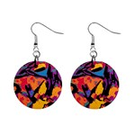 Carnival Earring by PiCassieO - 1  Button Earrings