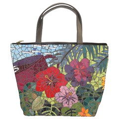 Flower Mosiac Bucket Bag By Bags n Brellas   Bucket Bag   Jpofqkydcjn4   Www Artscow Com Front