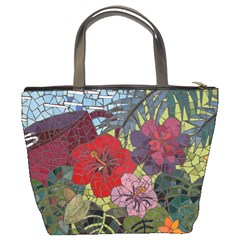 Flower Mosiac Bucket Bag By Bags n Brellas   Bucket Bag   Jpofqkydcjn4   Www Artscow Com Back