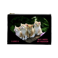 Cats By Jesse Zweydoff   Cosmetic Bag (large)   Gjye5f6xe9k6   Www Artscow Com Front