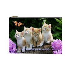 Cats By Jesse Zweydoff   Cosmetic Bag (large)   Mvlvgf3q93o7   Www Artscow Com Front