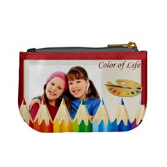 Color Of Life By Wood Johnson   Mini Coin Purse   Ospes0tgn1wu   Www Artscow Com Back