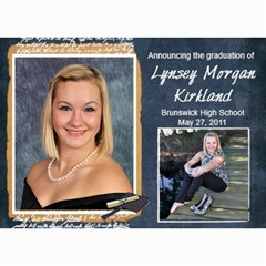 Lynsey s Grad Announcement/party By Echo Kirkland   5  X 7  Photo Cards   Mtwbfn84rmwl   Www Artscow Com 7 x5 Photo Card - 1