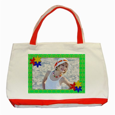 Summer Bag By Danielle Christiansen   Classic Tote Bag (red)   11h8iftscyv9   Www Artscow Com Front