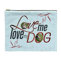 Puppy Love Extra Large Cosmetic Bag By Catvinnat   Cosmetic Bag (xl)   Tgog9m0oob5h   Www Artscow Com Front