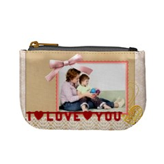 I Love You By Joely   Mini Coin Purse   Np13amr7x7yz   Www Artscow Com Front