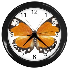 Butterfly Insect Black Wall Clock by CowCowDemo