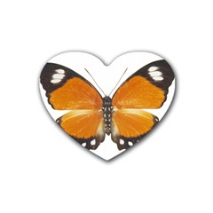 Butterfly Insect 4 Pack Rubber Drinks Coaster (heart)