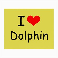 I Love Dolphin Glasses Cleaning Cloth by CowCowDemo
