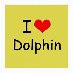 I Love Dolphin Single-sided Large Glasses Cleaning Cloth by CowCowDemo