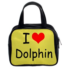I Love Dolphin Twin Sided Satched Handbag by CowCowDemo