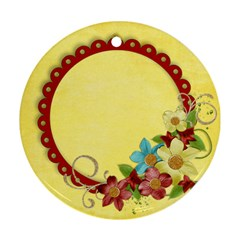 Floral/crazy Love  Ornament, 2 Sides, Template By Mikki   Round Ornament (two Sides)   Yt9zw1688nee   Www Artscow Com Front