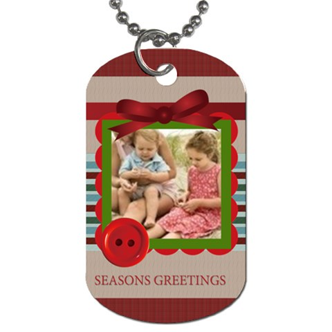 Season Greeting By Joely   Dog Tag (one Side)   Dw3ztblo70rm   Www Artscow Com Front