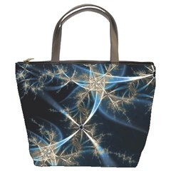 Blue Abstract Light By Bags n Brellas   Bucket Bag   Rnxy88dpvxu8   Www Artscow Com Front