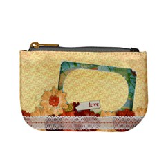 Floral Symphony, Mini Coin Purse By Mikki   Mini Coin Purse   Wtg5k61crrlc   Www Artscow Com Front