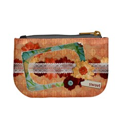 Floral Symphony, Mini Coin Purse By Mikki   Mini Coin Purse   Wtg5k61crrlc   Www Artscow Com Back