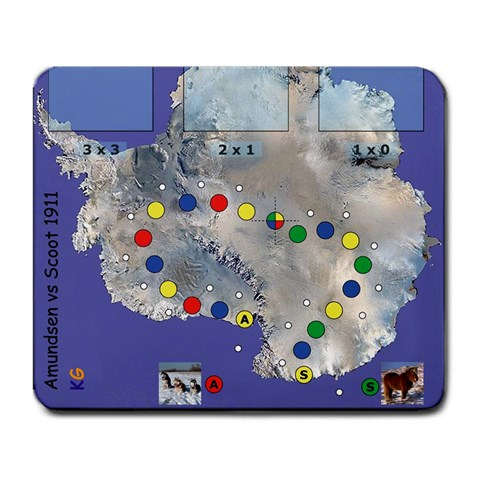 Mapa Amundsen Csott 1911 By Pedrito   Large Mousepad   48dafg7eezy1   Www Artscow Com Front