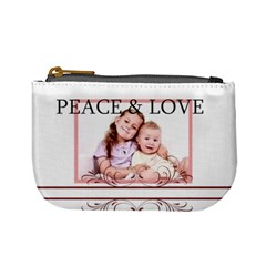 Peace & Love By Wood Johnson   Mini Coin Purse   2algex32w4ma   Www Artscow Com Front