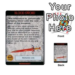 Warhammer Quest 2 By Kieren   Multi Purpose Cards (rectangle)   L3an5b4sp9nt   Www Artscow Com Front 44