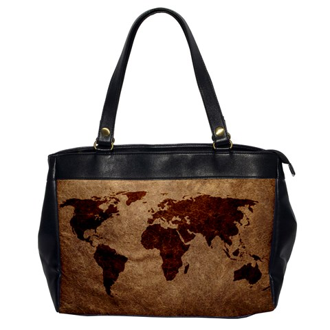 Leather Map One Sided Office Bag By Bags n Brellas   Oversize Office Handbag   Frofyunyq88h   Www Artscow Com Front
