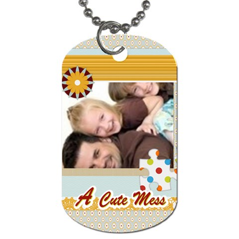 A Cute Mess By Joely   Dog Tag (one Side)   Fo5gr27xdict   Www Artscow Com Front