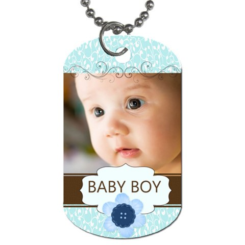 Baby Boy By Joely   Dog Tag (one Side)   Qnuo2h5vcwfx   Www Artscow Com Front