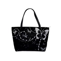 Black And White Butterflies Shoulder Bag By Bags n Brellas   Classic Shoulder Handbag   Xo3xzqxeutw5   Www Artscow Com Front